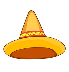 Sombrero straw hat vector