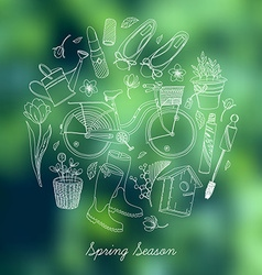 Spring essential icon set vector