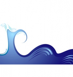 abstract surf background vector image vector image