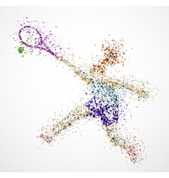 Abstract tennis player2 vector image vector image