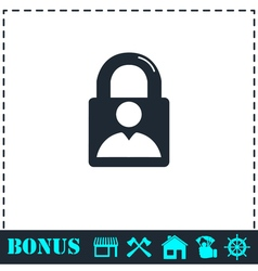 Authenticate icon flat vector image vector image