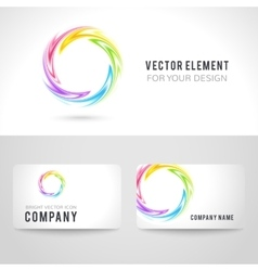 Business card template set abstract colorful vector image vector image