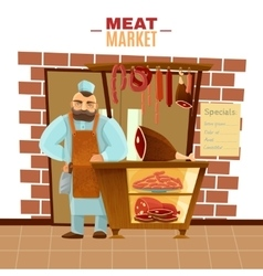 Butcher cartoon vector