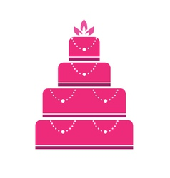 Cake wedding vector image vector image
