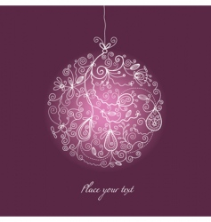 Christmas ball ornaments vector image