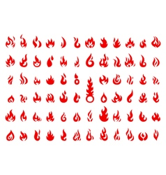 collection of fire icon vector image
