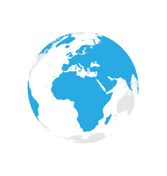 earth globe with blue world map focused on africa vector image