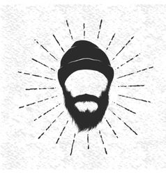Face of lumberjack vector image vector image