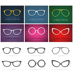 Glasses Group vector image vector image