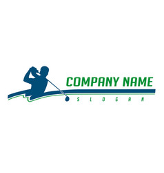 golfer logotype vector image vector image