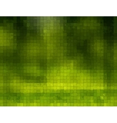 Green background with cubes vector