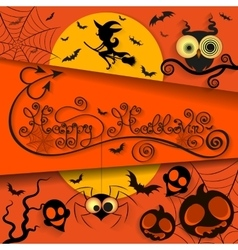 happy halloween holiday vector image vector image