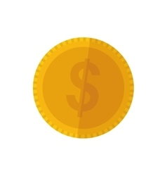 Isolated coin money vector image vector image