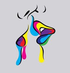 Kiss icon vector
