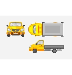Light truck with trailer top front vector image vector image