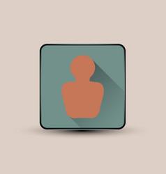 man portrait icon vector image vector image