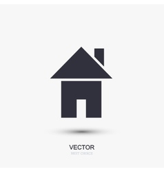 modern real estate icon on white vector image vector image