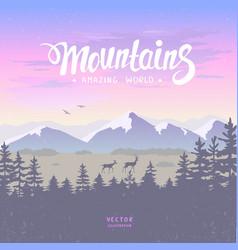 mountain deer vector image