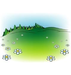 Mountain Meadow vector image