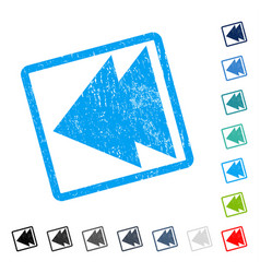 Move left icon rubber watermark vector
