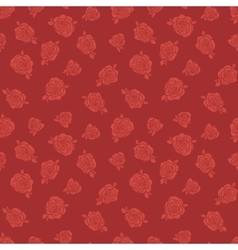 Pattern with red roses vector