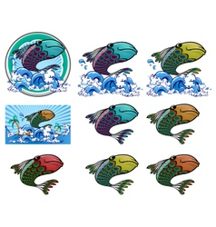 Peacock fish vector