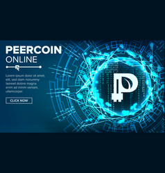 peercoin abstract technology background vector image vector image