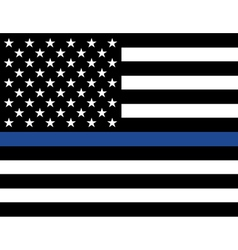 Police law enforcement american flag vector