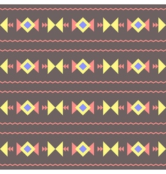 seamless abstract decorative ethnic tribal pattern vector image