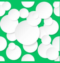 Seamless texture circles for design on green vector