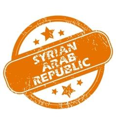 Syrian arab republic grunge icon vector