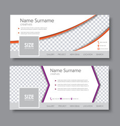 template banners with the arrow and a semicircle vector image vector image