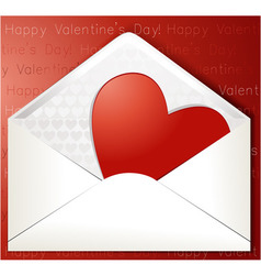 Valentines heart in envelope vector image