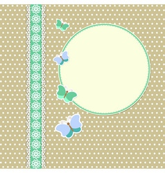 Vintage frame with butterflies vector image vector image