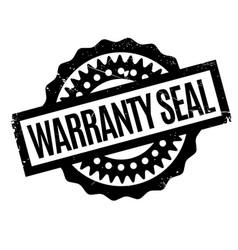 Warranty seal rubber stamp vector