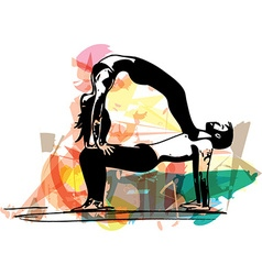 Yoga couple vector image