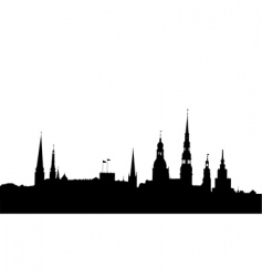 Riga panorama vector