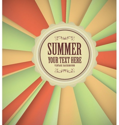 Vintage summer background vector
