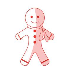 gingerbread cookie design vector image