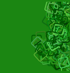 Green background from rounded square frames vector