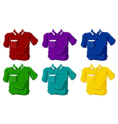 Colorful polo shirts vector