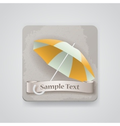 icon with opened umbrella vector image