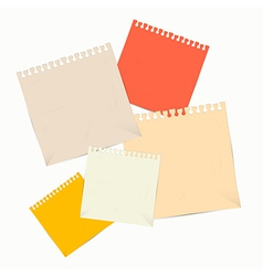 Colorful empty paper sheets vector