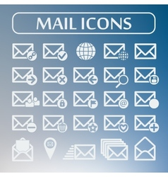 Set of flat mail icons vector image