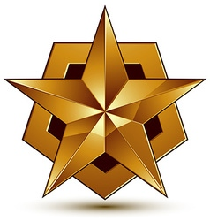 Royal golden geometric symbol stylized golden star vector