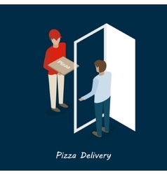 Pizza delivery isometric vector