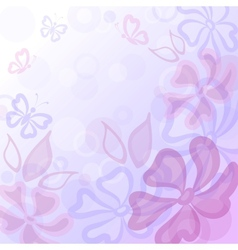 flowers butterflies and leaves vector image