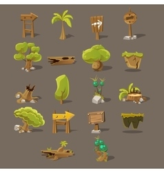 Landscaping design set vector