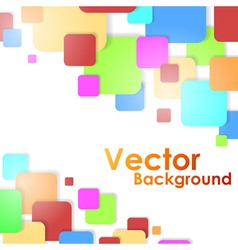 Colorful squares background vector