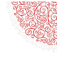 Background with red ornaments vector